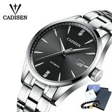 Мужские автоматические механические часы CADISEN, деловые водонепроницаемые часы из нержавеющей стали, 2019(Китай)