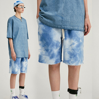 High Quality Boy's Cotton Biker Shorts Tie Dye Shorts Men