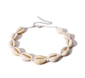 Woman Cowrie Real Natural Big Sea Shells Chain Choker Tribal Abalone White Puka Jewelry Shell Necklace