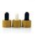 Skin care essential oil 5ml 10ml 15ml 20ml 30ml 50ml 100ml frosted black glass dropper bottle with bamboo wooden lid
