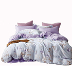 New luxury 100% organic 60s tencel lyocell designs flower bedding sets bedsheet sets lenzing tencel bedding