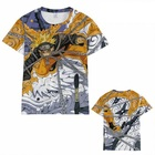 Naruto wholesale Custom Full color printed Cartoon anime short sleeve T-shirt 10 sizes from XXS to 5XL
