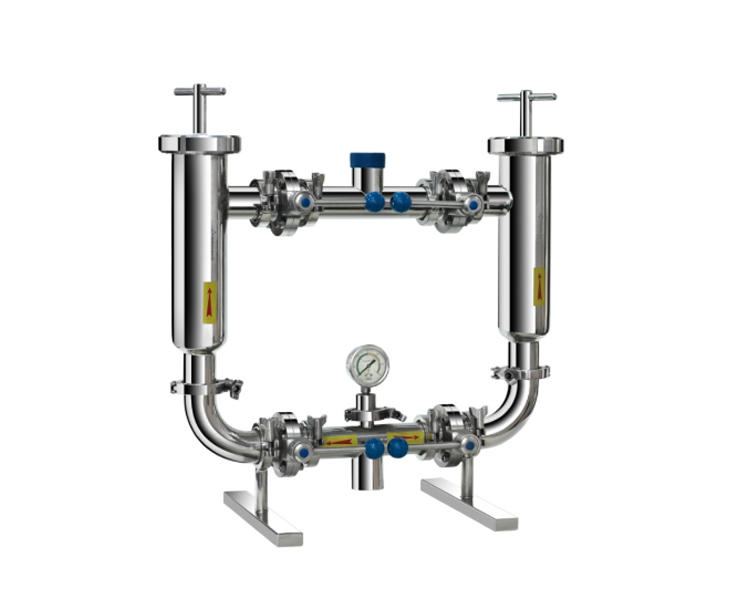 DONJOY SS304 and SS316L stainless steel sanitary beer duplex filter equipment for food beverage pharmacy dairy and syrup
