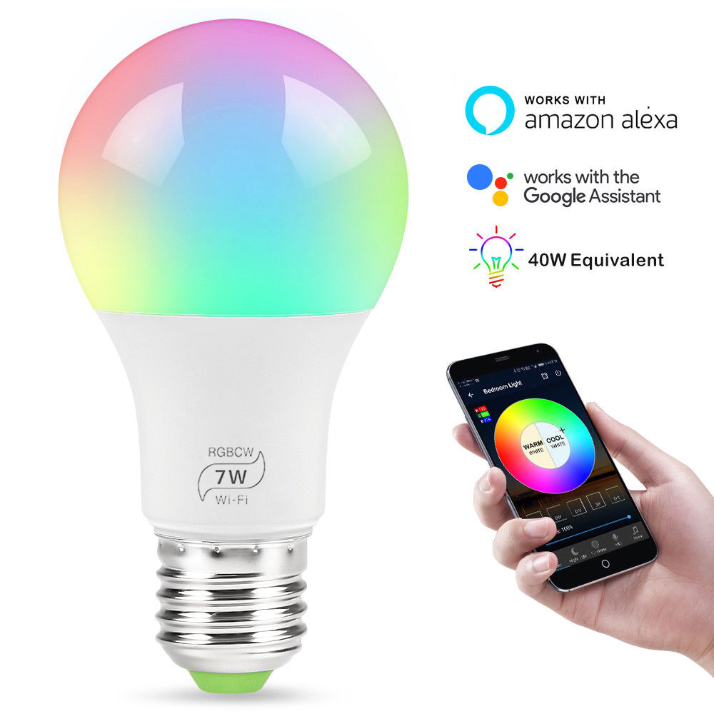 Smart LED Light E27 4.5W WiFi Multicolor Light  Work with Alexa, Google Home and IFTTT