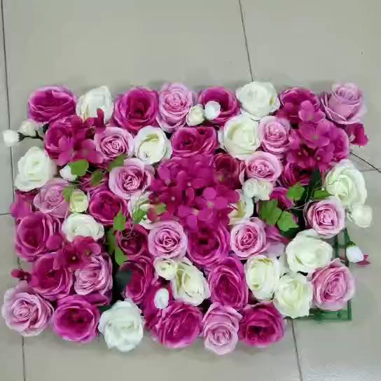 인공 장미 꽃 카펫 웨딩 장식