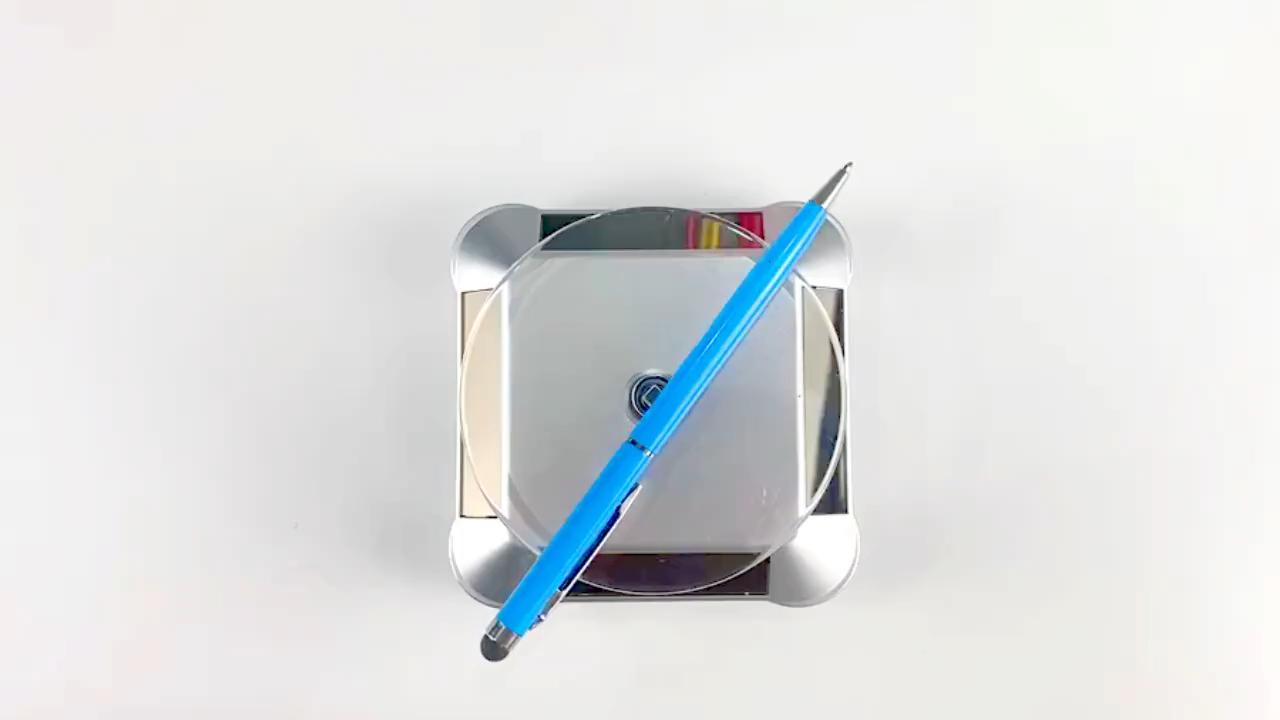 רב צבע Stylus כדוריים עט לוגו מותאם אישית אלומיניום סגסוגת קיבולי Stylus עט עם יותר בצורה חלקה