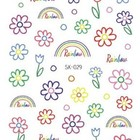 Nail Sticker Designs INS Style Nail Sticker Korea Paper Hyun A Beauty Colorful Flower Nail Art Designs Sticker For Nail Art Decoration