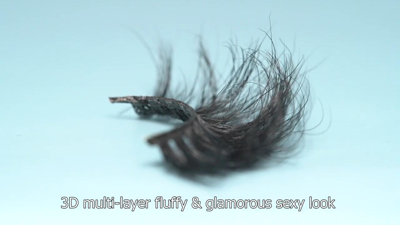 High Quality 25mm 3D Mink Eyelashes Custom Eyelash Packaging Box Eyelashes Extension