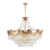Oval Brass French Empire Chandelier Ceiling Lamp K9 Crystal Classic Pendant Light