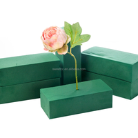 Wholesale High quality easy to absorb high density flower arrangement mud floral foam oasis dry and fresh flower mud