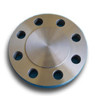 "Duplex stainless steel UNS S32760 ASTM A182 F55 BL blind flange with 1/2"" FNPT hole"