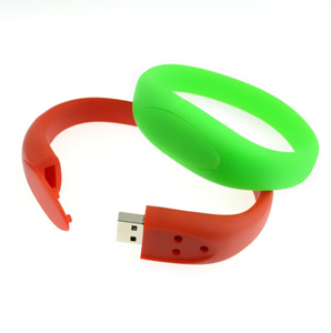 Customized Bracelet PVC USB Flash Drive Waterproof USB Wristband Silicon Band USB 4gb