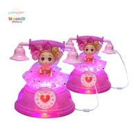 LED Flashing Princess Telephone Toy Doll with Music Butterfly Fairy Princess Musical Doll Toy with Blossoming Petal Skirt