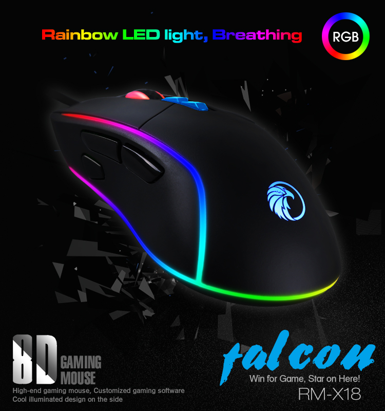 Private 3050/3360/199/ Sensor Razeak RGB Gaming Mouse for PC Gaming