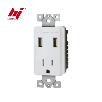 UL cUL USB Socket with 15A Tamper Resistant Receptacle