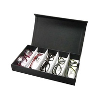Multiple Sunglasses Travel Case Frame Trays Optical Glasses Organizer Eyewear Display Case
