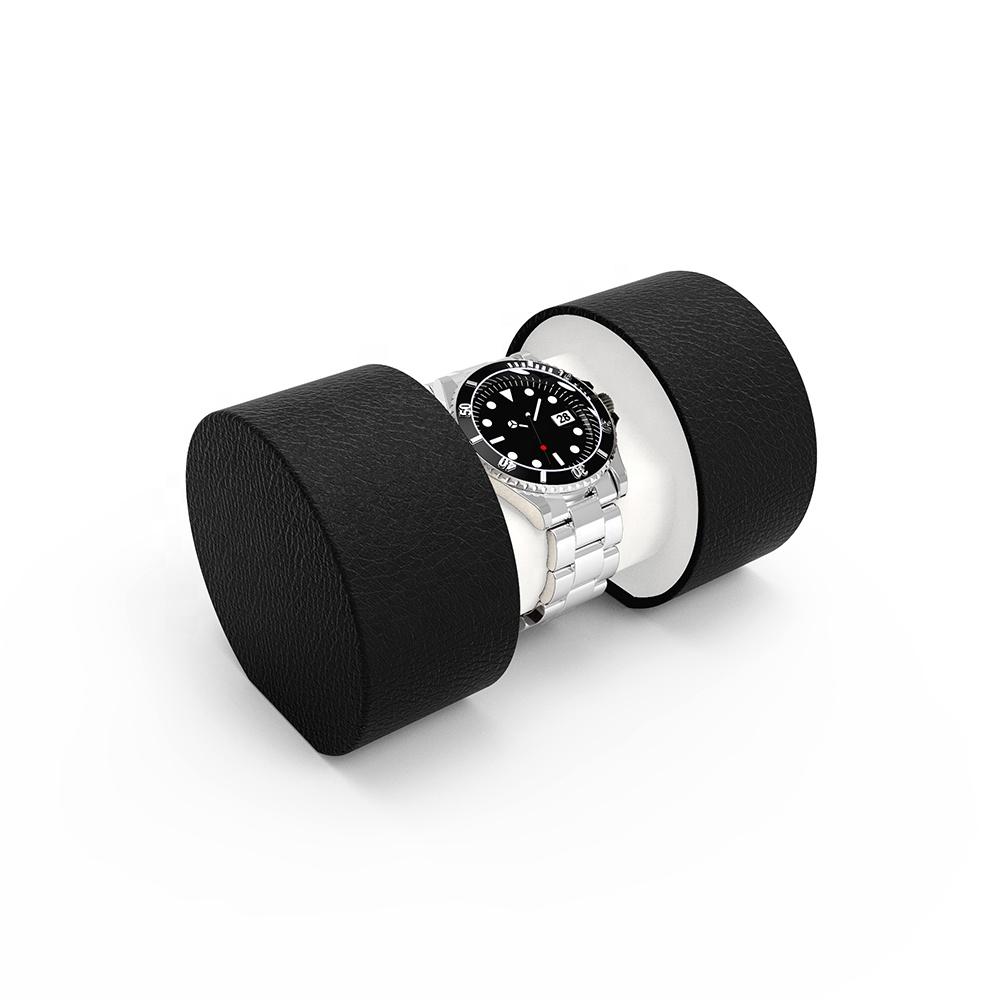 คุณภาพสูงรูปทรงกระบอกกล่องนาฬิกาที่กำหนดเอง Eco Friendly บรรจุภัณฑ์กล่องกล่องนาฬิกาเดียว