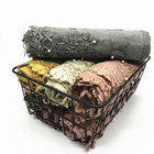 2020 New Arrival Soft Cotton Luxury Lace Decoration Hijab Scarf For Women