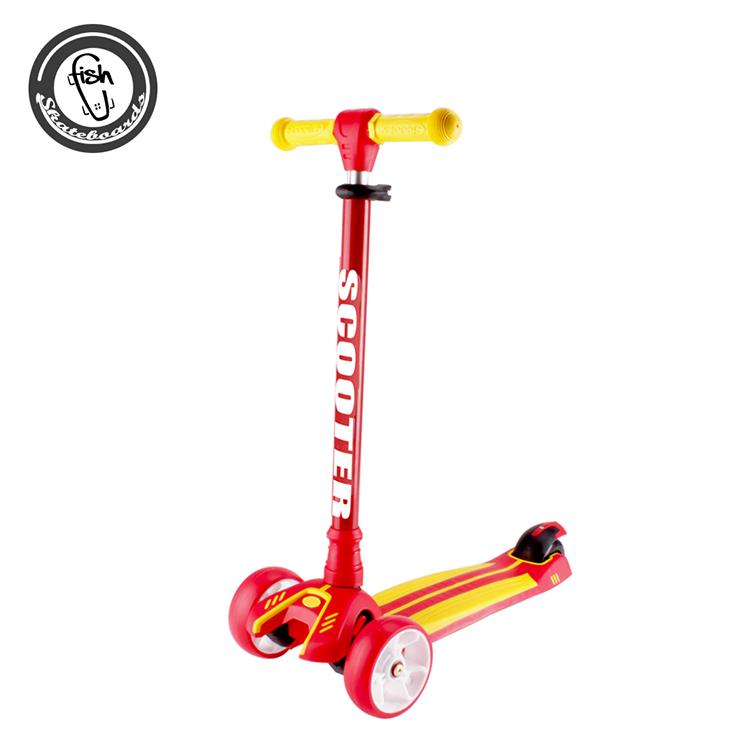 Nova Moda Esporte Ao Ar Livre Dobrável Peso Leve 3 Rodas Crianças Scooter Kick