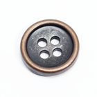 Fashion Plating Antique Brass color 4 hole Metal Buttons Alloy Shirt Button for Sewing Garment