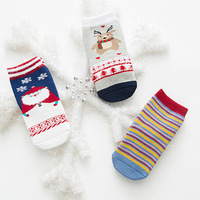 Christmas Thermal 3Pairs High Quality Kids Socks Santa Claus Elk Striped Children Socks With Animal Pattern