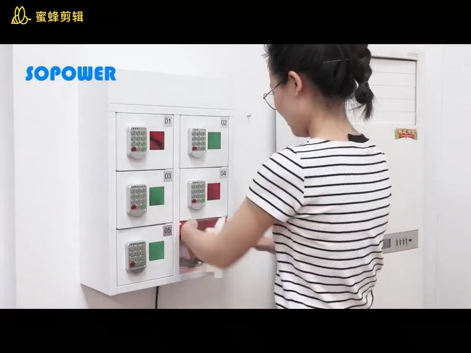 6, 10, 12 Door Wall Mounted Cell Phone Storage Cabinet Multi Phone Charging Station With Digital Lock For Different Mobile Phone