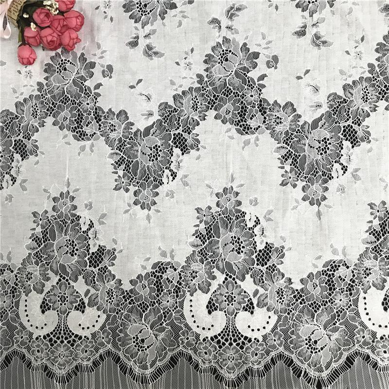 150*150 centímetros de tecido de algodão de nylon pestana laço do casamento estoque
