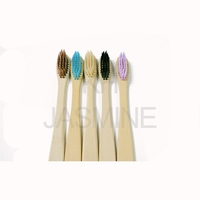 Disposable Eco Friendly Hotel Tooth Brush Custom Logo Bamboo Toothbrush