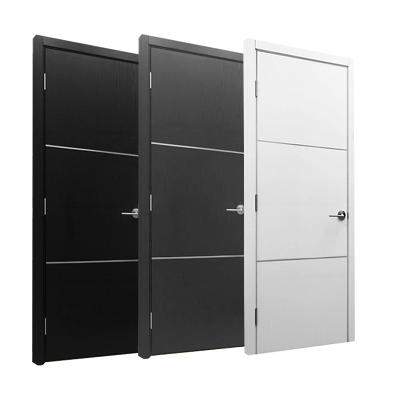 High quality modern style aluminum wooden interior <strong>door</strong>