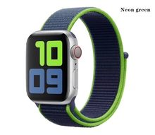 Тканый нейлоновый ремешок для Apple Watch Series 5 4 3 2 1 Мягкие Ремешки для iWatch 38 42 мм ремешки для часов 40 44 мм спортивный браслет(Китай)