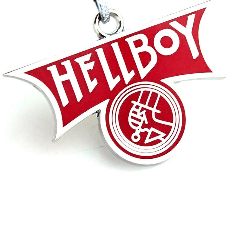 Hellboy Q Cartoon Keychain Cosplay Keyring Metal Pendant Jewelry