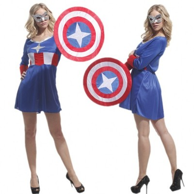 2019 di Halloween di Carnevale Del Partito di Cosplay The Avengers Movie Anime Captain America Superhero Costumi di Prestazione Per La ragazza
