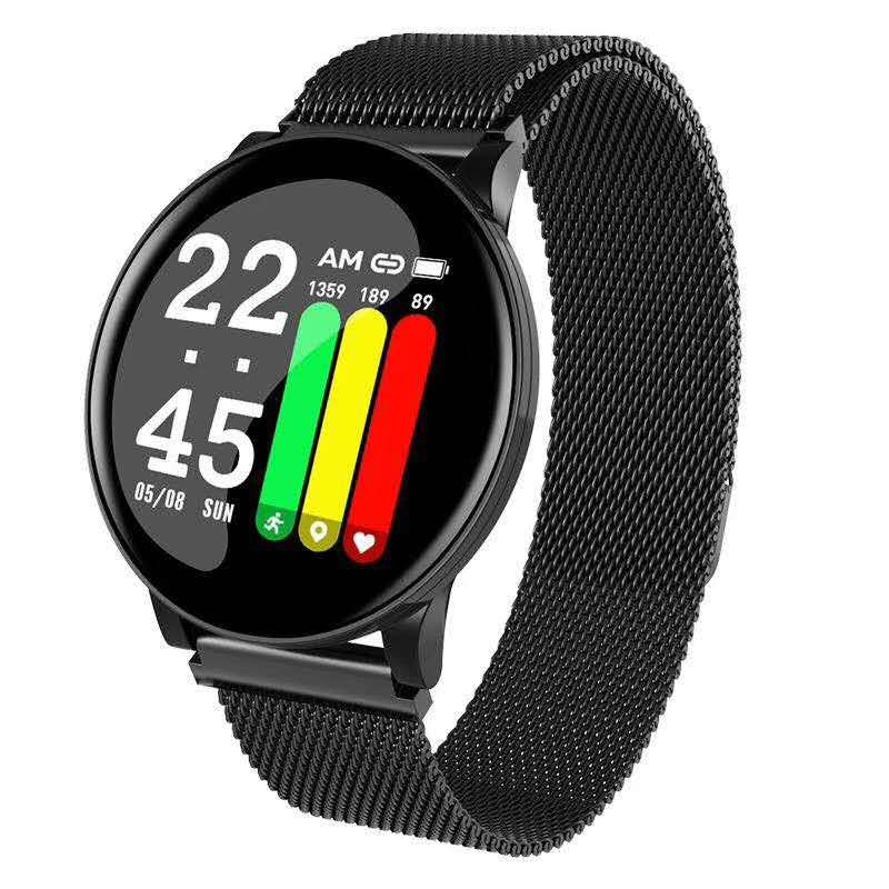 Popular fashion wristband ultra-thin fitness wristband color glass full screen smart bracelet W8 sports smart wrist watch фото