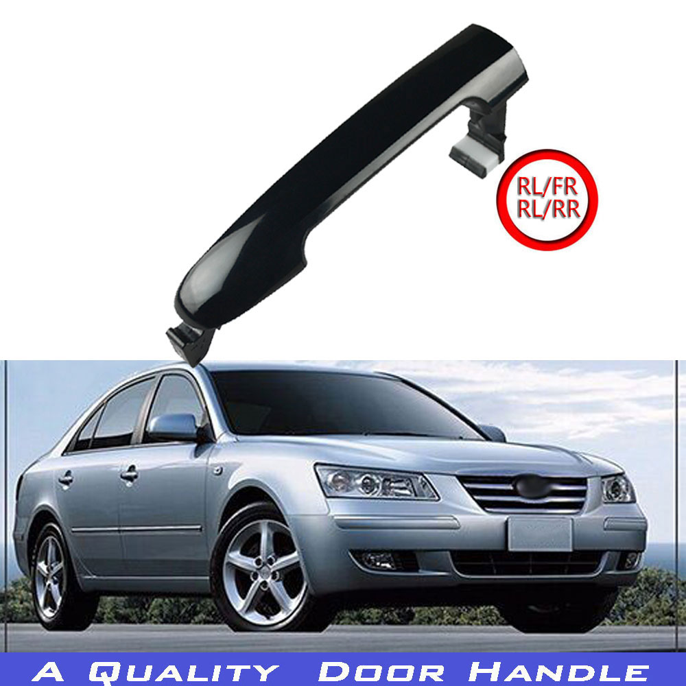 2Pcs Black Outside Door Handle Catch Front Rear 826513K000 for Hyundai Sonata