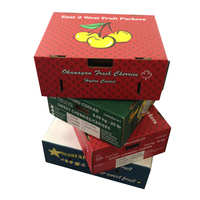 Corrugated cardboard gift custom fruit storage packaging box