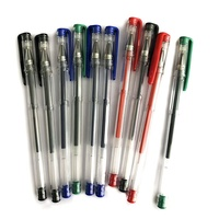Hot Selling Basic 0.5mm Line Medium Gel Pens Custom Logo Black/Blue/Red/Green