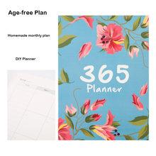 Организатор повесток дня 2020, А4 блокнот и журналы, сделай сам, 365 дней, книга для записей, Kawaii, ежемесячный недельный график, книга для письма(Китай)