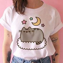 Женская футболка с рисунком кошки, каваи, Юмористическая, 90s, harajuku, корейский, ulzzang(China)