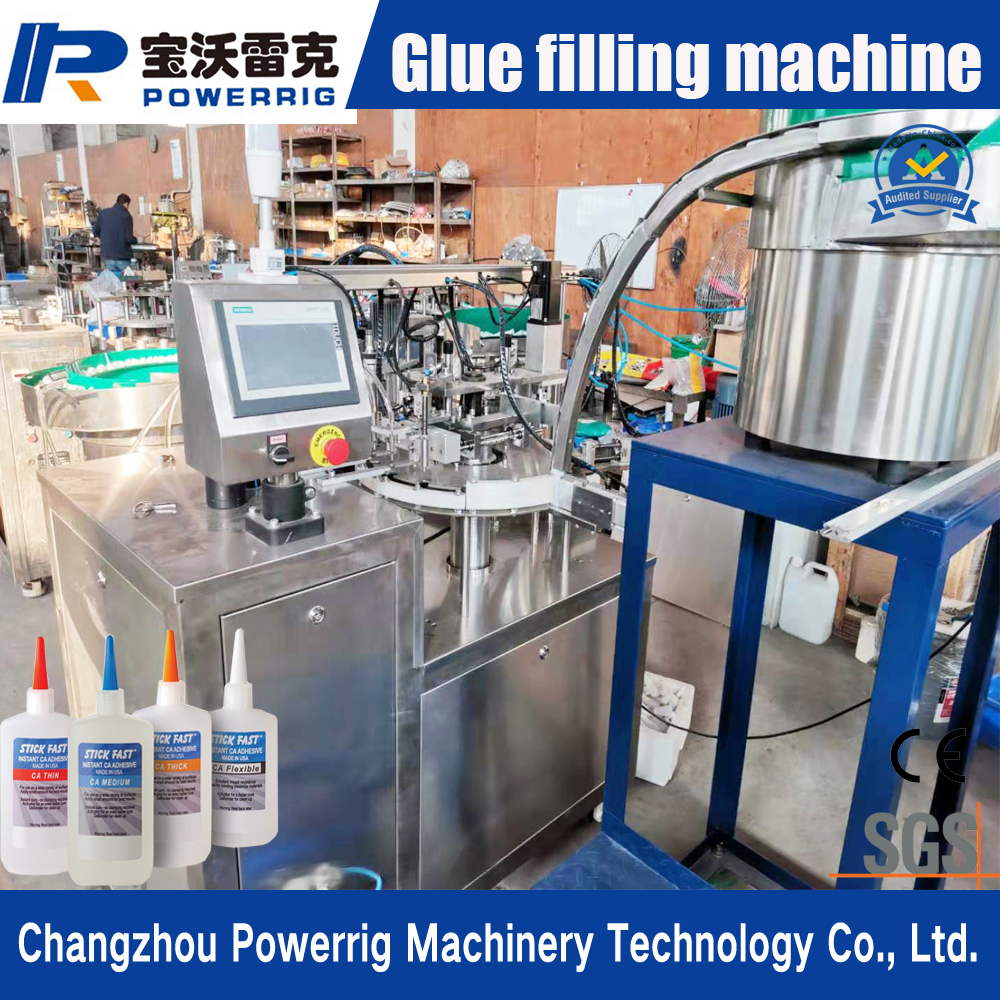 Automatic 502 glue bottle filling stoppering machine