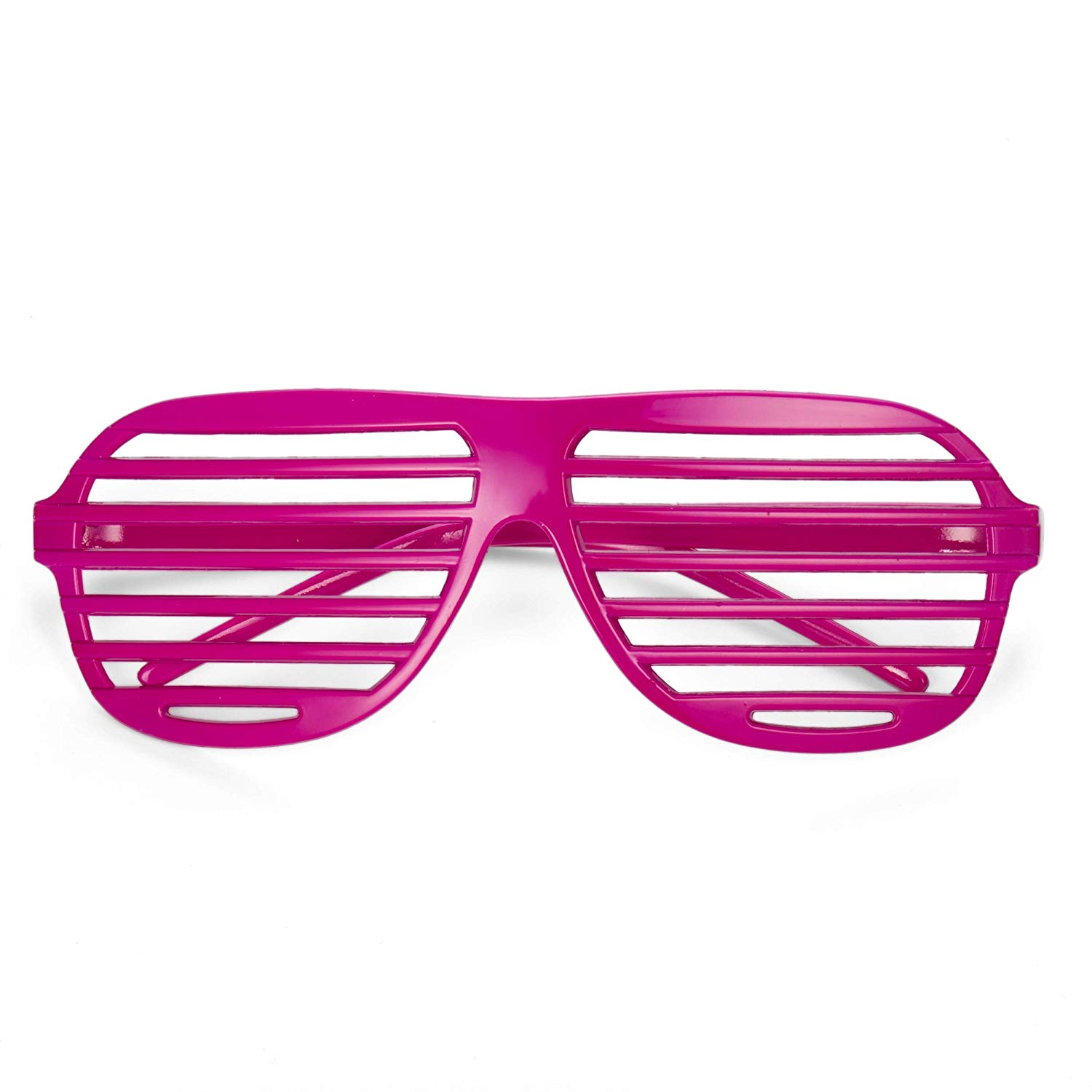Neon Pink Shutter Shades Fun Novelty Plastic Party Sunglasses