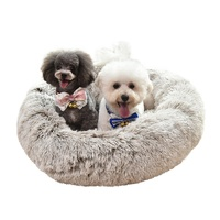 Felt Comfortable Pet Beds Deluxe House Raised Small Egg Round Luxury Plush Pet Beds For Dog Cat