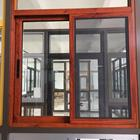 China supplier latest design wood blinds double glass sliding window with stainless steel net