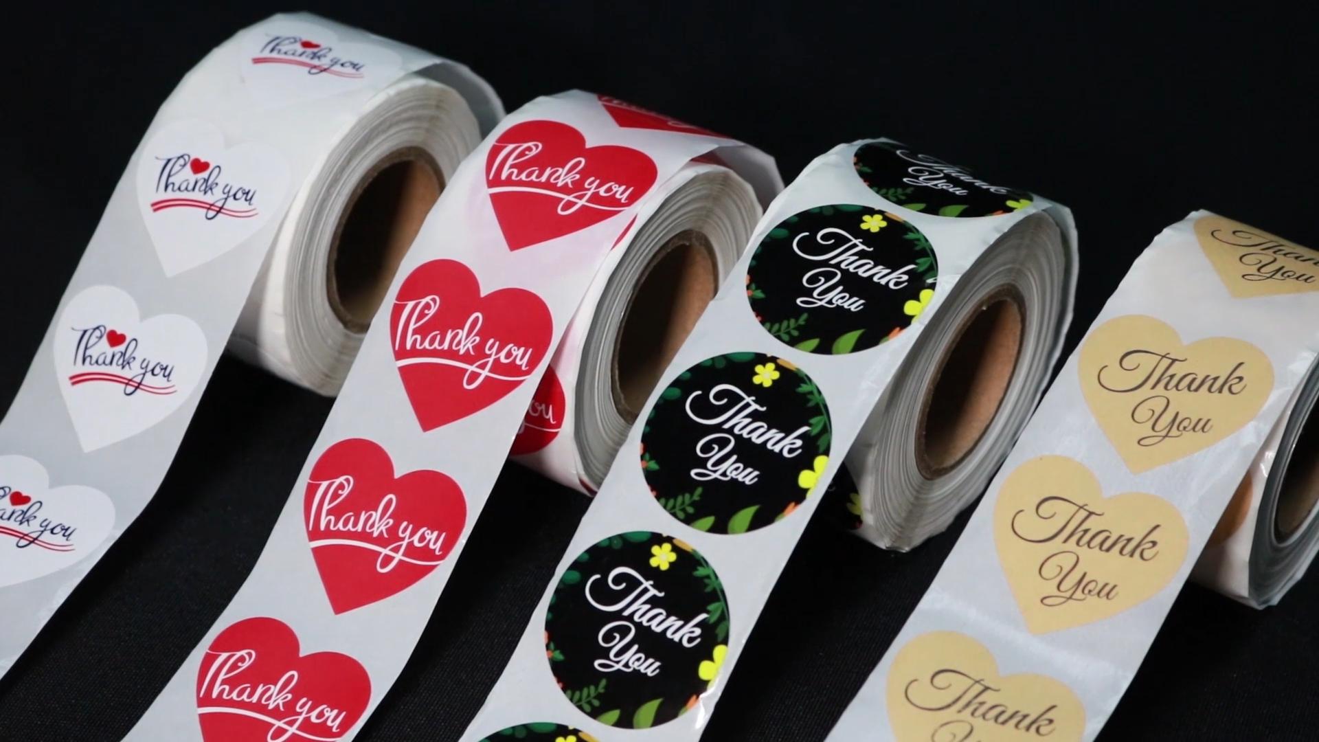 Tùy Chỉnh Cảm Ơn Bạn Nhãn Tình Yêu CuộN Sticker Glitter Vòng Sticker