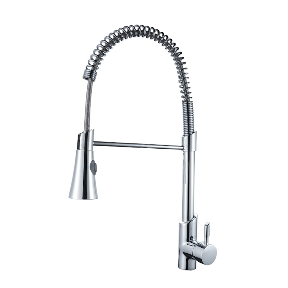 TB-KP012 Tengbo single-handle <strong>spring</strong> brass bronze modern <strong>kitchen</strong> <strong>faucet</strong> pull down spray