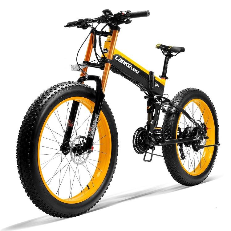 LANKELEISI T750Plus 26 ''48V 1000W ไฟฟ้าจักรยานไขมัน48V 13AH Panasoni'c แบตเตอรี่