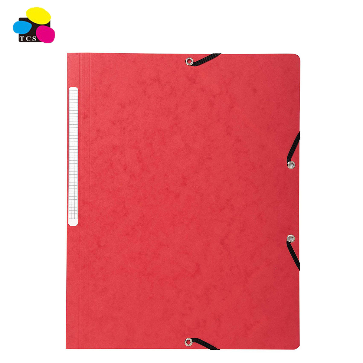 2020 Custom Colorful A4 Elastic Bands 3-Flap Recycled Folder With 25Pcs Per Box For Office and School Supplies