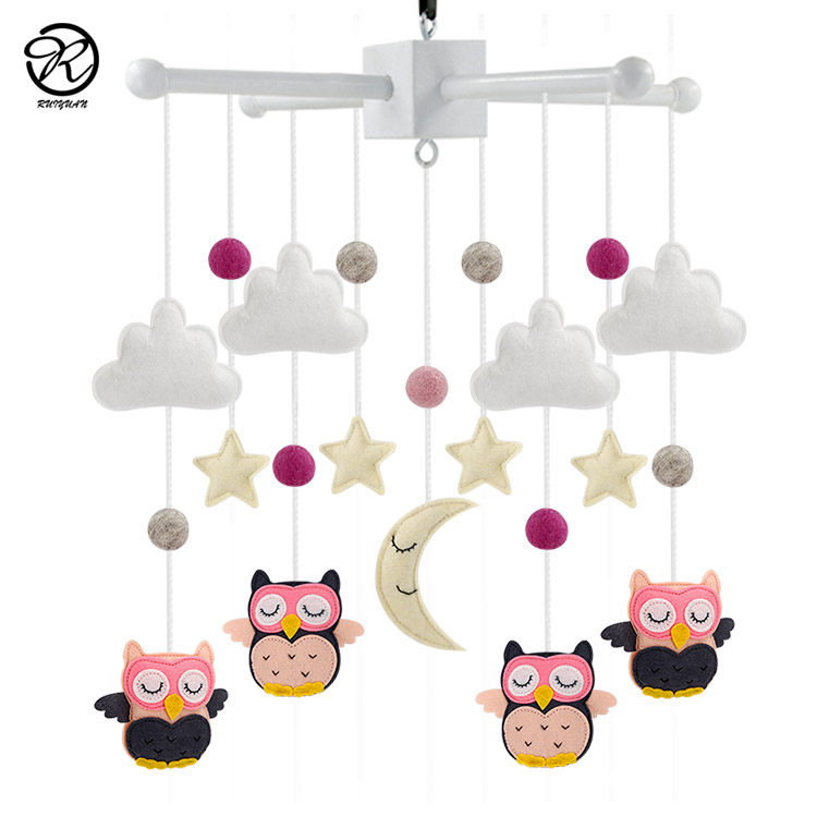 Tiny love toys baby mobile frame Felt Baby hanging cot mobile for Boys and Girls