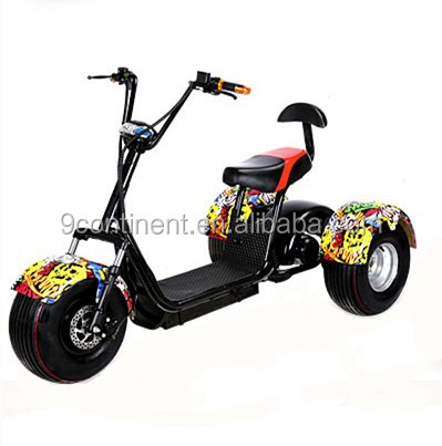 Hot Citycoco 1000W Electric Scooter adult 3 wheel scooter фото