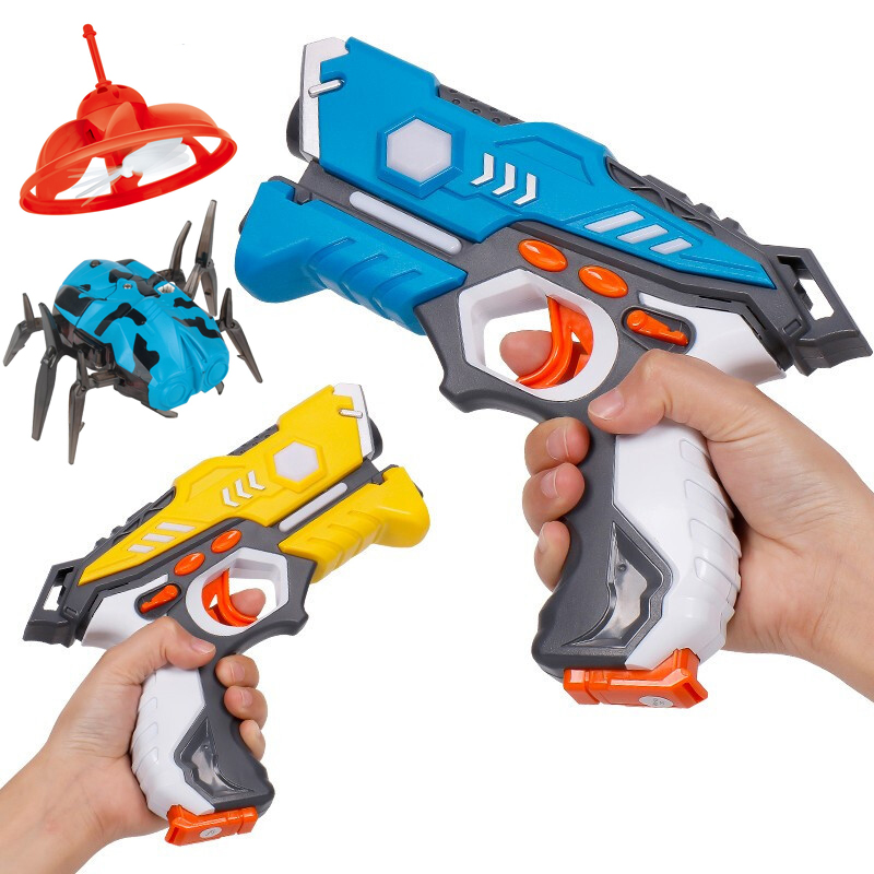 Infrared toy <strong>gun</strong> shooting UFO spider plastic electric toy <strong>gun</strong> with flying saucer