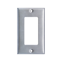 UL Approved Stainless Steel Outlet Cover Rocker Switch Wall Plates Decorator Metal